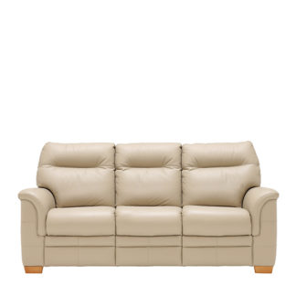 An Image of Parker Knoll Hudson 3 Seater Sofa Leather - Barker & Stonehouse