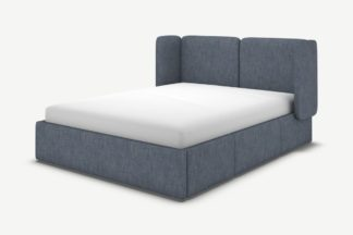 An Image of Ricola Super King Size Bed with Storage Drawers, Denim Cotton
