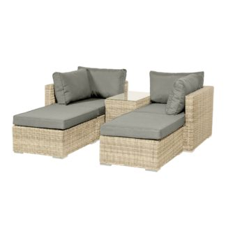 An Image of Lisbon 4 Seater Relaxer Set Grey