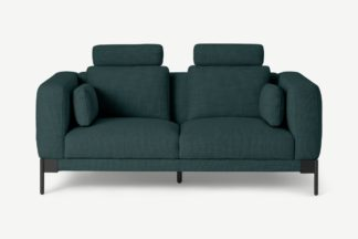 An Image of Daxton 2 Seater Sofa, Juniper Blue Weave
