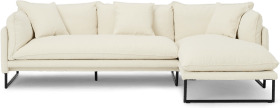 An Image of Malini Right Hand Facing Chaise End Sofa, Whitewash Boucle