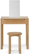 An Image of Ardelle Dressing Table with Stool, Oak