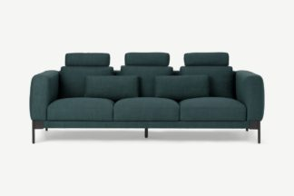 An Image of Daxton 3 Seater Sofa, Juniper Blue Weave