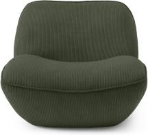 An Image of Sete Accent Armchair, Sage Corduroy Velvet