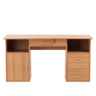 An Image of Dallas Desk Wood (Brown)