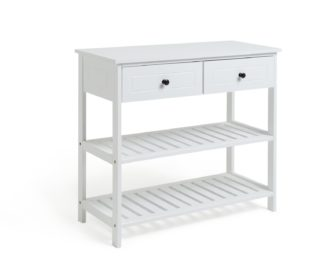 An Image of Habitat 2 Drawer Console Table - White