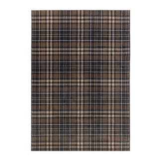 An Image of Kilbirnie Rug Grey, Brown and White