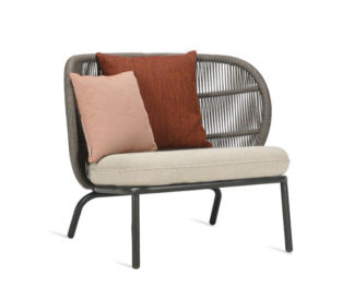 An Image of Vincent Sheppard Kodo Outdoor Lounge Chair Almond