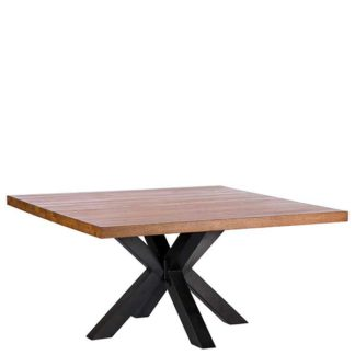 An Image of Navarro 150cm Star Dining Table Dark Oak