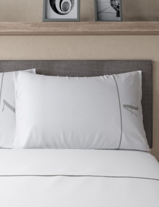 An Image of M&S Easy Care Alphabet Embroidered Pillowcase