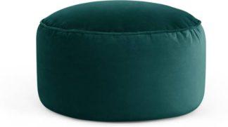 An Image of Lux Velvet floor cushion, Seafoam Blue Velvet