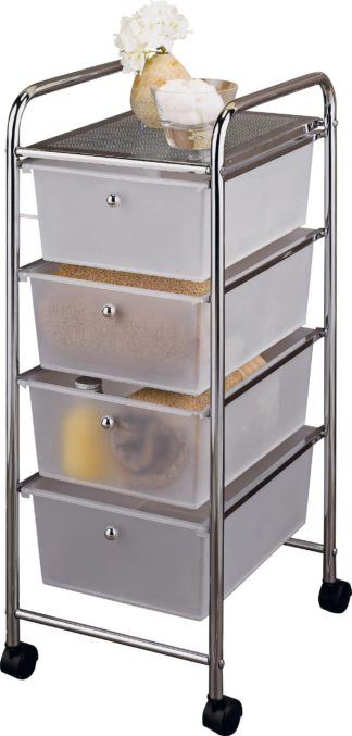An Image of Argos Home 4 Drawer Storage Trolley on Wheels