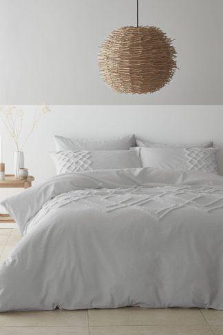An Image of Tufted Cotton Diamond Single Duvet Set