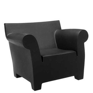 An Image of Kartell Bubble Armchair Black