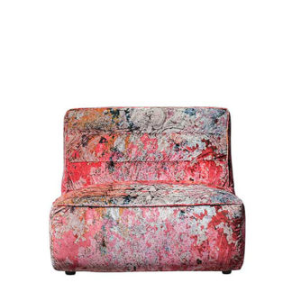 An Image of Timothy Oulton Shabby Sectional 1 Seater Sofa Faded and Degraded Peel