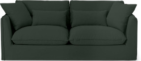 An Image of Kasiani 3 Seater Sofa, Bayleaf Cotton & Linen Mix