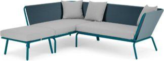 An Image of Tice Garden Corner Sofa, Teal and Grey