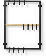 An Image of Tomas Wall-Mounted Hanging Rack, Black