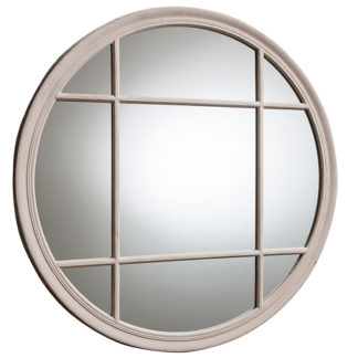 An Image of Round Window Mirror Natural