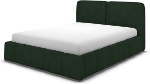 An Image of Maxmo Double Bed with Storage Drawers, Bottle Green Velvet