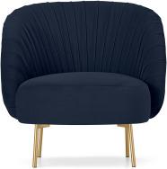 An Image of Ilana Accent Armchair, Interstellar Blue Velvet