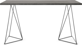 An Image of Solly Wide Desk, Concrete Effect & Black Steel