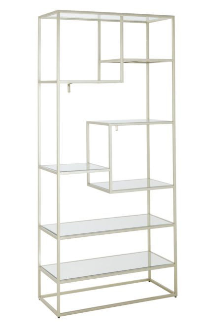 An Image of Dutch Glam 8 Tier Shelving Unit - Champagne