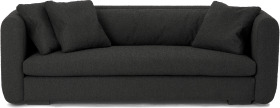 An Image of Nikita 3 Seater Sofa, Anthracite Grey Boucle