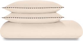An Image of Kokoda Cotton Trim Duvet Cover + 2 Pillowcases, Double, Pastel Rose