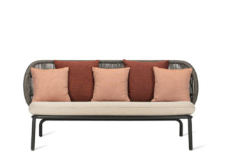 An Image of Vincent Sheppard Kodo Outdoor Lounge Sofa Almond