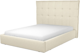 An Image of Lamas King Size Ottoman Storage Bed, Putty Cotton
