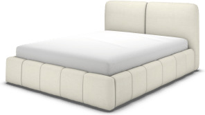 An Image of Maxmo Double Ottoman Storage Bed, Putty Cotton