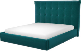 An Image of Lamas Super King Size Ottoman Storage Bed, Tuscan Teal Velvet