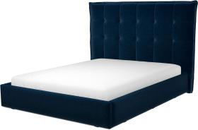 An Image of Lamas King Size Ottoman Storage Bed, Regal Blue Velvet