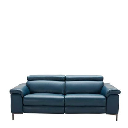 An Image of Paolo Leather 2 Seater Sofa - Barker & Stonehouse