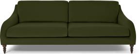 An Image of Andrin 3 Seater Sofa, Moss Eco Velvet