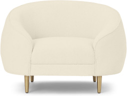 An Image of Trudy Armchair, Whitewash Boucle