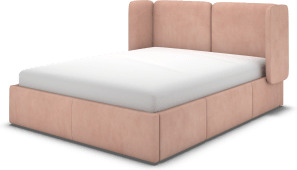 An Image of Ricola Super King Size Bed with Storage Drawers, Heather Pink Velvet