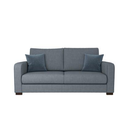 An Image of Carson Corduroy 3 Seater Sofa Emerald Green