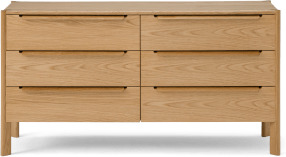 An Image of Ardelle Wide Chest of Drawers, Oak