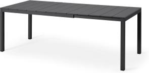 An Image of Nardi 6-8 Seat Extending Dining Table, Dark Grey Aluminium