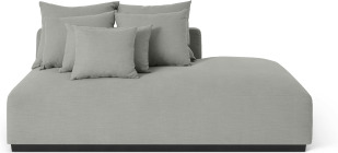 An Image of Laurin Right Hand Facing Wide Chaise End Sofa Unit, Frost Grey Linen