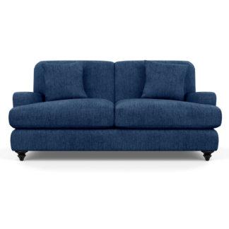 An Image of Heal's Hampstead 3 Seater Sofa Broad Weave Lagoon Black Feet