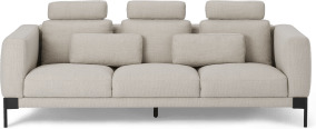 An Image of Daxton 3 Seater Sofa, Oat Weave