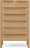 An Image of Ardelle Tall Multi Chest of Drawers, Oak