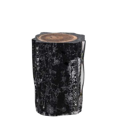 An Image of Timothy Oulton Floem Side Table Burnt Wood and Acrylic