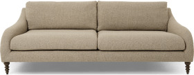 An Image of Andrin 3 Seater Sofa, Mink Eco Weave