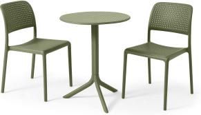 An Image of Nardi 2 Seat Bistro Set, Olive Fibreglass & Resin