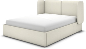 An Image of Ricola Super King Size Bed with Storage Drawers, Putty Cotton
