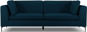 An Image of Monterosso 3 Seater Sofa, Elite Teal with Black Leg